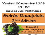 Succès pour la deuxième édition de la soirée beaujolais de Claix Naturellement