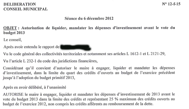 Budget communal : autorisation de liquider
