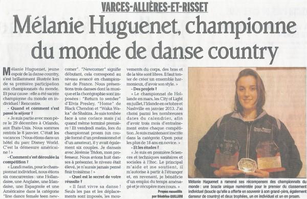 Mélanie Huguenet, championne du monde de danse country, en démonstration lors de la soirée beaujolais de Claix Naturellement