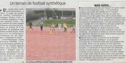 Article du Dauphiné Libéré du 5 octobre 2012 sur les travaux à Claix