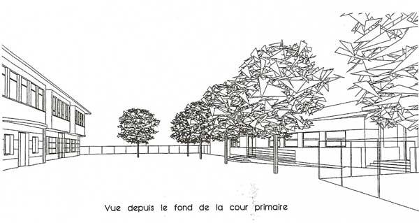 Claix projet agrandissement école Pont Rouge