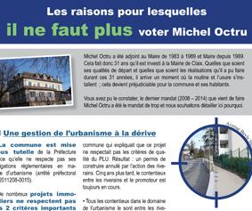 L'heure des bilans : pourquoi il ne faut plus voter Michel Octru