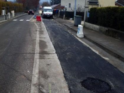 Claix travaux avenue de Belledonne